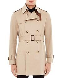 Sandro Magnetic Short Trench Coat Beige