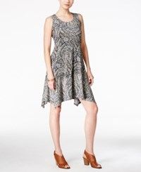 Styleandco. Style Co. Paisley Print Crochet Back Shift Dress Only At Macy's Swan Lake