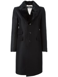 Dsquared2 Mink Collar Coat Black