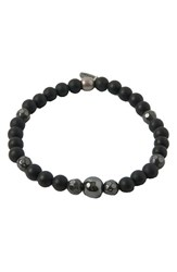 Men's Ettika Onyx Hematite And Silver Bracelet
