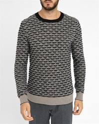 Carven Fancy Knit Round Neck Sweater