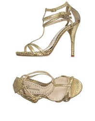 Blumarine Footwear Sandals Women Gold