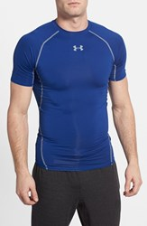 Men's Under Armour Heatgear Compression T Shirt Royal Steel