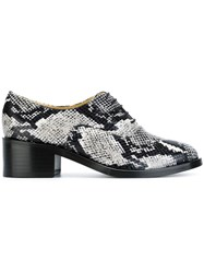 Each X Other Snakeskin Lace Up Shoes Black