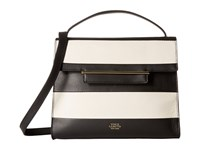 Vince Camuto Aster Satchel Black Snow White Satchel Handbags