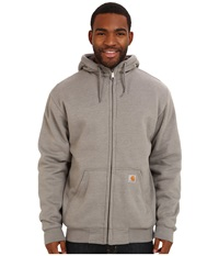 Carhartt Brushed Fleece Sweatshirt Sherpa Lined Slate Heather Men's Coat Gray