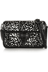 Alaa A Double Pocket Margarite Small Python And Leather Shoulder Bag