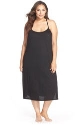 Natori Racerback Jersey Gown Plus Size Nordstrom Exclusive Black