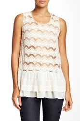 Ryu Crochet Cutout Sleeveless Blouse White
