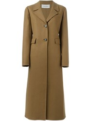 Valentino Single Breasted Coat Nude And Neutrals