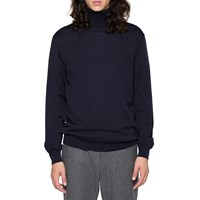 Gant Rugger Navy Merino Wool Roll Neck Sweater Blue