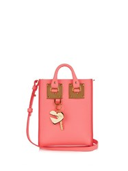 Sophie Hulme Nano Albion Leather Cross Body Bag Pink