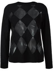 Ballantyne Argyle Checked Pattern Jumper Black