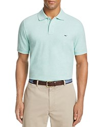 Vineyard Vines Solid Pique Polo Classic Fit Capri Blue