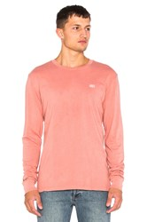 Obey New Times Micro L S Tee Coral