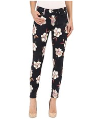 7 For All Mankind The Ankle Skinny With Contour Wb In Calypso Floral Calypso Floral Women's Jeans Black