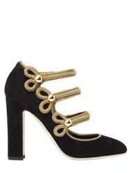 Dolce And Gabbana 105Mm Military Suede Pumps