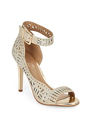 Artelier By Nicole Miller Bali Laser Cut Leather Ankle Cuff Pumps