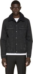 A.P.C. Black Denim Barry Jacket