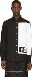 Hood By Air Black And White Printed Illusion Shirt