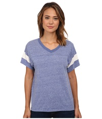 Alternative Apparel Powder Puff Tee Eco Pacific Blue Eco Ivory Women's T Shirt