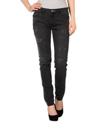 Shine Denim Pants Black