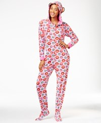 Paul Frank Julius Hooded Footed Jumpsuit Pink Dots