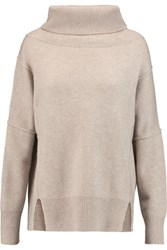 Madeleine Thompson Giles Wool And Cashmere Blend Turtleneck Sweater Beige