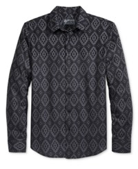 American Rag Men's Chalet Fair Isle Shirt Only At Macy's Deep Black