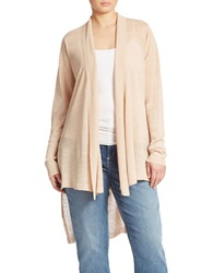 Eileen Fisher Plus Plus High Low Shawl Collar Cardigan Dune