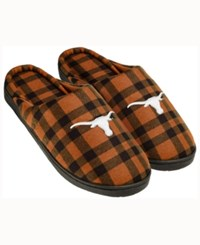 Forever Collectibles Texas Longhorns Flannel Slide Slippers Texas Orange