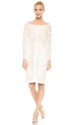 J. Mendel Off Shoulder Dress Ecru