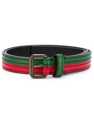 Tomas Maier Bicolour Buckle Belt Green
