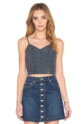 Ayni Mirna Cami Crop Top Navy