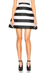 Zuhair Murad Stripe Scuba Skirt In Black White Stripes