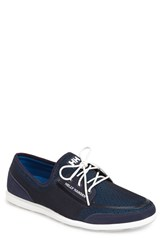 Men's Helly Hansen 'Trysail' Boat Sneaker Prussian Blue Navy Off White