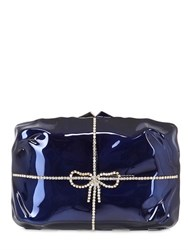 Benedetta Bruzziches Cabaret Enameled Brass Clutch With Bow