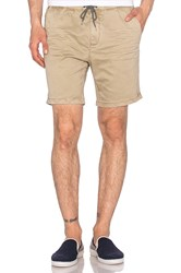 Scotch And Soda Chino Short With Elastic Waistband Beige