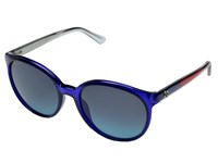 Gucci Gg 3697 S Transparent Blue Gray Gradient Turquoise Fashion Sunglasses