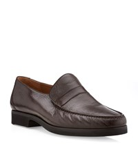 Stemar Leather Slip On Loafer Male