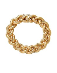 Lord And Taylor 14K Italian Gold Braided Necklace Yellow Gold