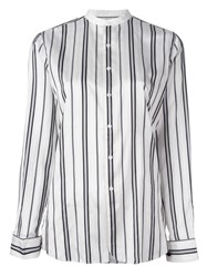 Polo Ralph Lauren Striped Collarless Shirt White