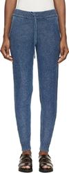 Alexander Wang Indigo Acid Washed Knit Lounge Pants