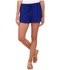 Splendid Rayon Voile Shorts Cobalt Blue Women's Shorts