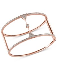 Effy Collection Pave Rose By Effy Diamond Bangle 1 1 2 Ct. T.W. In 14K Rose Gold