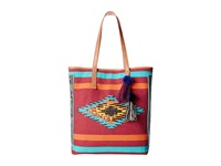 Sam Edelman Thea Tribal Beaded Tote Vreeland Red Tote Handbags