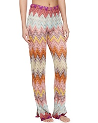 Missoni Mare Zigzag Knit Pull On Coverup Pants Multi