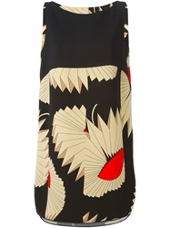 Antonio Marras Geometric Print Shift Dress Black