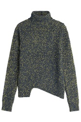 Marc By Marc Jacobs Asymmetric Turtleneck With Wool Multicolor