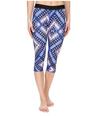 Hurley Dri Fit Crop Leggings Hyper Cobalt Women's Workout Black